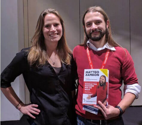 Krista Seiden with Matteo Zambon present the book 'Google Tag Manager for beginners'